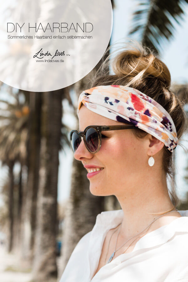 Haarband Diy selbstgemacht blog nivea sommer hairband fashion