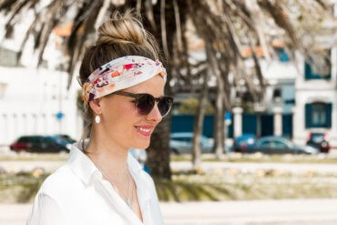 Haarband Diy selbstgemacht blog nivea sommer hairband fashion