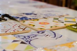 Porto Fliesen bemalen Azulejos Workshop DIY Souvenir