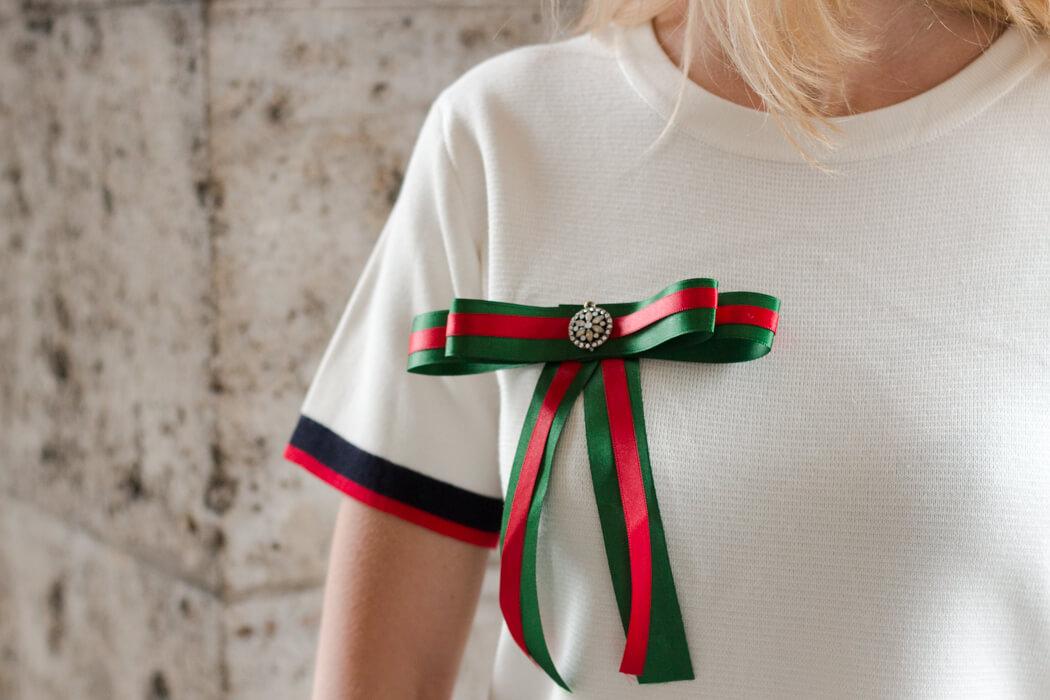 Trend Brosch selber machen - Accessoire DIY aus Geschenkbändern - Do-it-yourself Blog