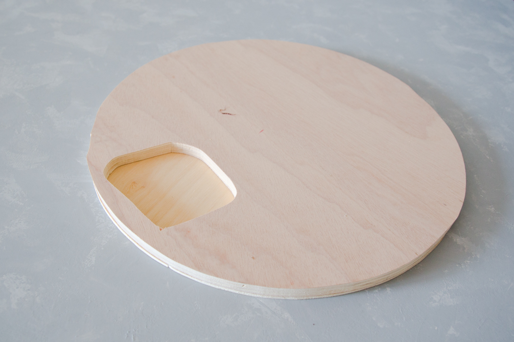 Tischplatte aus Holz - IKEA Hack Beistelltisch - DIY Blog lindaloves