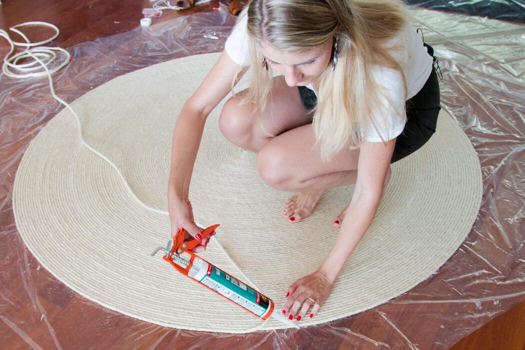 DIY Blog Sisal Seil Teppich selber machen